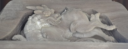 蟇股彫物~麒麟