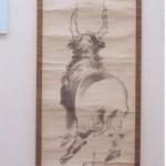 蕭白「牛の図」         本居宣長記念館蔵