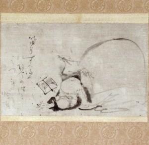蕭白筆 布袋図 朝田寺蔵