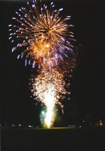 朝田寺の花火
