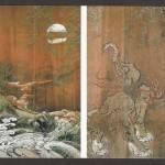 朝田寺書院(客殿)廊下:獏図(杉戸)