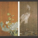 朝田寺書院(客殿)廊下:鳳凰図(杉戸)