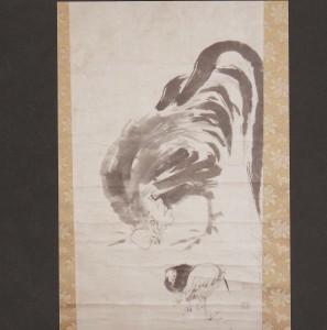 朝田寺蔵 蕭白筆 雄鶏図