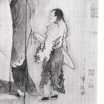 唐人物画部分 ギザギザの衣